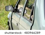 front part of a crashed car... | Shutterstock . vector #483966289