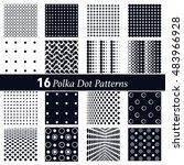 16 polka dot patterns   ... | Shutterstock .eps vector #483966928