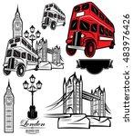 Set Of Vector Templates London...