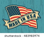 made in usa  united states of... | Shutterstock .eps vector #483983974