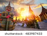 wat phra kaeo  temple of the... | Shutterstock . vector #483987433