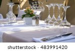 served table in a restaurant in ... | Shutterstock . vector #483991420