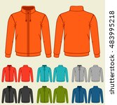 set of colored sports jackets... | Shutterstock .eps vector #483995218