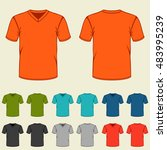 set of colored t shirts... | Shutterstock .eps vector #483995239