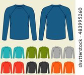set of colored long sleeve... | Shutterstock .eps vector #483995260