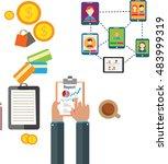 financial management flat... | Shutterstock .eps vector #483999319