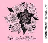 elegant vector card with... | Shutterstock .eps vector #484003279