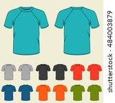 set of colored t shirts... | Shutterstock .eps vector #484003879