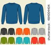 set of colored sweatshirts... | Shutterstock .eps vector #484004404
