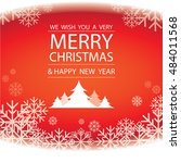 merry christmas and happy new... | Shutterstock .eps vector #484011568
