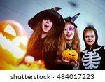 Three Children In Halloween...