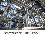 industrial plant | Shutterstock . vector #484019290