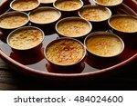 custard creme caramel flan... | Shutterstock . vector #484024600