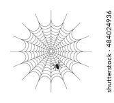 abstract spiderweb on white... | Shutterstock .eps vector #484024936
