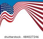 american flag background  usa... | Shutterstock . vector #484027246