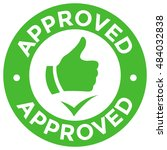 approved vector simple thumb up ... | Shutterstock .eps vector #484032838