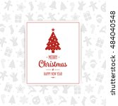 merry christmas card pattern... | Shutterstock .eps vector #484040548