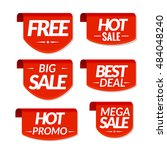 sale tags labels. special offer ... | Shutterstock . vector #484048240