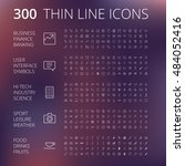 thin line icons for business ... | Shutterstock .eps vector #484052416