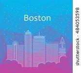 boston for banner  poster ... | Shutterstock .eps vector #484053598