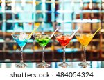 multicolored cocktails at the... | Shutterstock . vector #484054324
