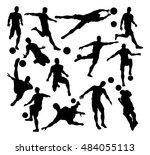 a set of football soccer player ... | Shutterstock .eps vector #484055113