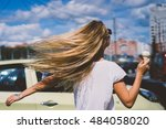 young pretty hipster style sexy ... | Shutterstock . vector #484058020