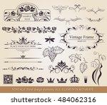 floral vector design elements... | Shutterstock .eps vector #484062316