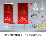 christmas decoration collection ... | Shutterstock .eps vector #484065409