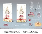 christmas decoration collection ...   Shutterstock .eps vector #484065436