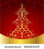 christmas background with... | Shutterstock .eps vector #484065439