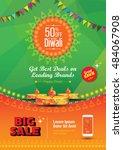 diwali festival poster design... | Shutterstock .eps vector #484067908