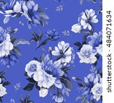 seamless floral pattern with... | Shutterstock .eps vector #484071634