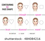 contouring by face shape.... | Shutterstock .eps vector #484084216
