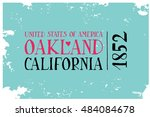 vintage touristic greeting card.... | Shutterstock .eps vector #484084678