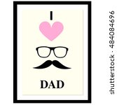 black icon dad isolated on... | Shutterstock .eps vector #484084696