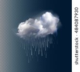 very realistic vector cloud and ... | Shutterstock .eps vector #484087930