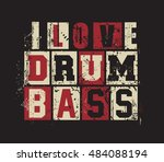 "grunge letters ""i love drum and ... 
