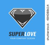 logo. icon. heart. super love. | Shutterstock .eps vector #484088614