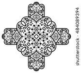 vector henna tatoo mandala.