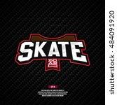 skate logo. skateboard sign. | Shutterstock .eps vector #484091920