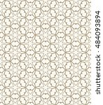 seamless geometric line pattern ... | Shutterstock .eps vector #484093894