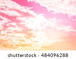cloudy pink sky abstract... | Shutterstock . vector #484096288