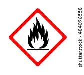 fire warning sign | Shutterstock .eps vector #484096558