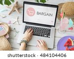 e commerce shop online homepage ... | Shutterstock . vector #484104406