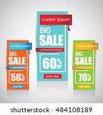 web sale banner   Shutterstock .eps vector #484108189