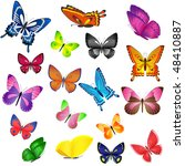 raster version of vector set of ... | Shutterstock . vector #48410887