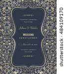 wedding invitation cards ... | Shutterstock .eps vector #484109170