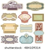 ornate vintage labels in style... | Shutterstock .eps vector #484109314