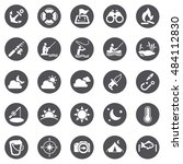 fishing icons | Shutterstock .eps vector #484112830